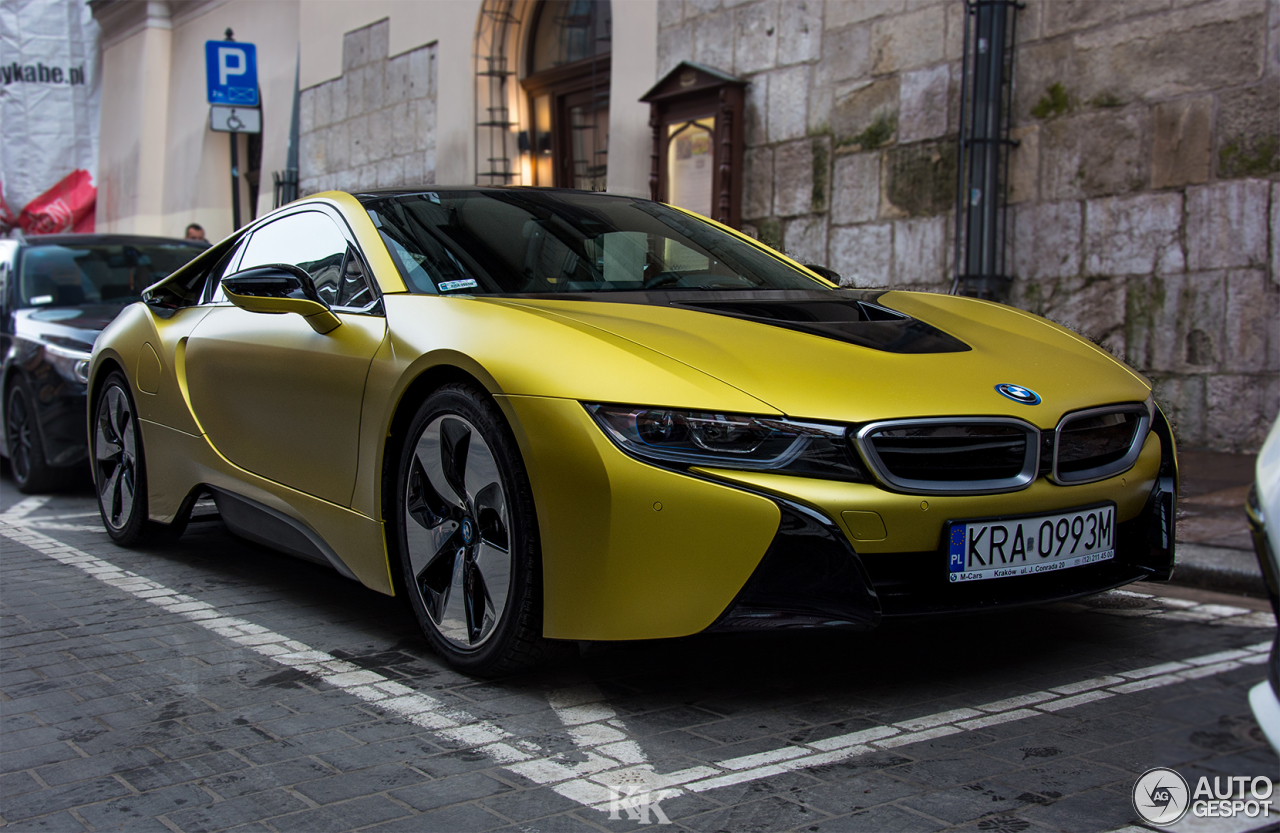bmw i8 protonic frozen yellow edition 10 luty 2018 autogespot. Black Bedroom Furniture Sets. Home Design Ideas