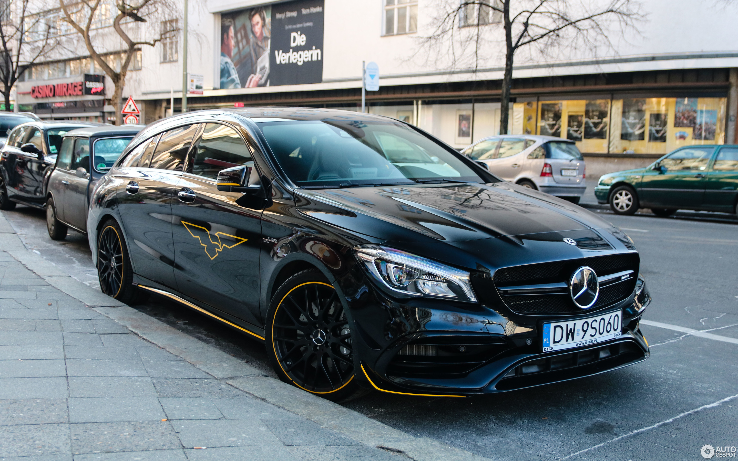 mercedes amg cla 45 shooting brake x117 yellow night edition 3 march 2018 autogespot. Black Bedroom Furniture Sets. Home Design Ideas