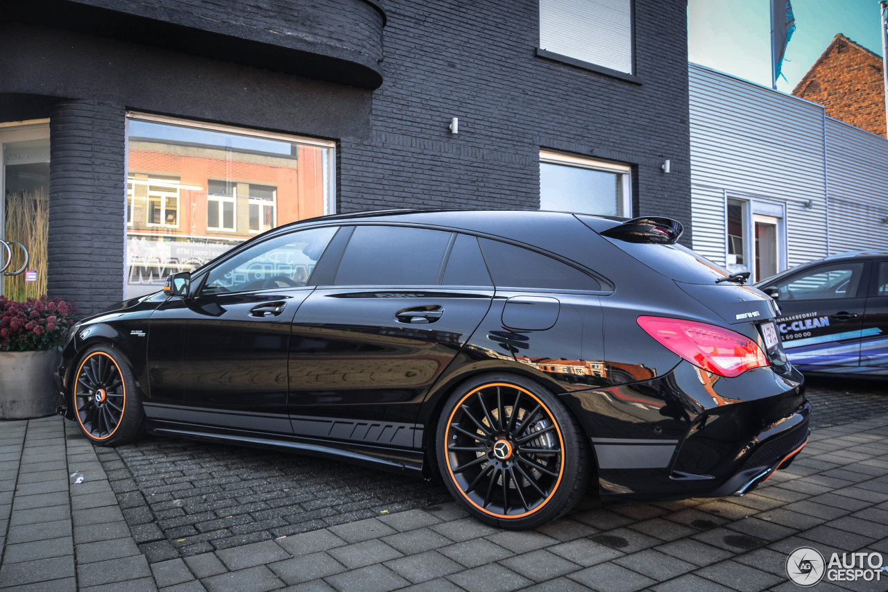 mercedes amg cla 45 shooting brake orangeart edition 11 march 2018 autogespot. Black Bedroom Furniture Sets. Home Design Ideas