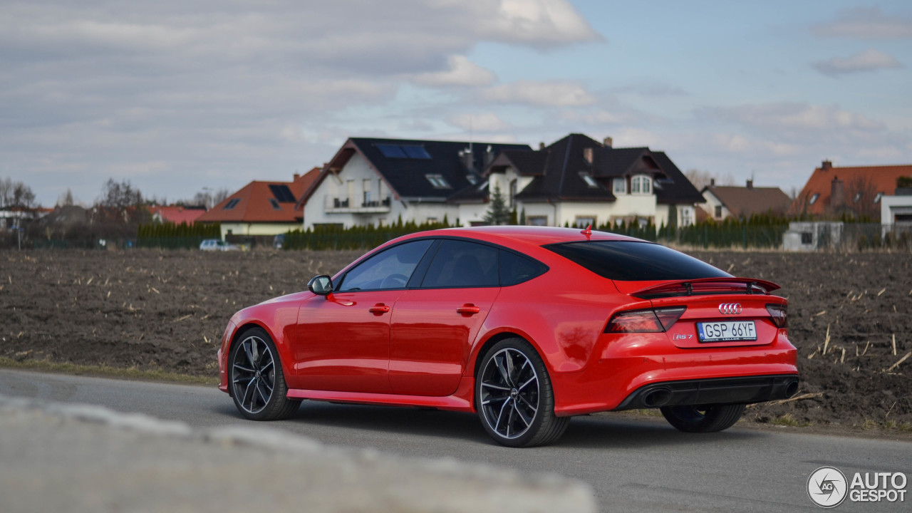 Audi Rs7 Sportback 2015 Performance 29 March 2018 Autogespot 2017 With A Red Colour