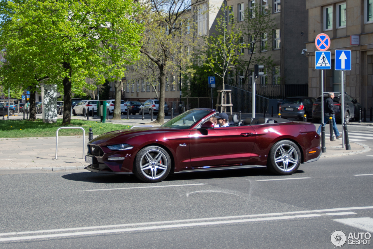 ford mustang gt convertible 2018 24 april 2018 autogespot. Black Bedroom Furniture Sets. Home Design Ideas