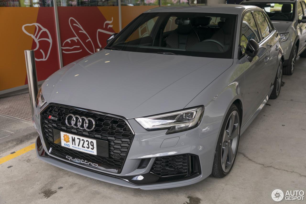 Audi Rs3 Sportback 8v 2018 1 May 2018 Autogespot