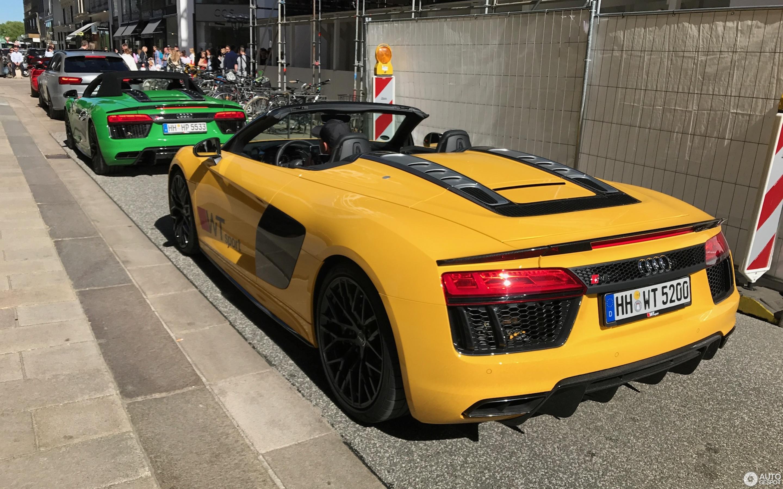 Audi R8 Spyder V10 Plus Yellow Supercars Gallery
