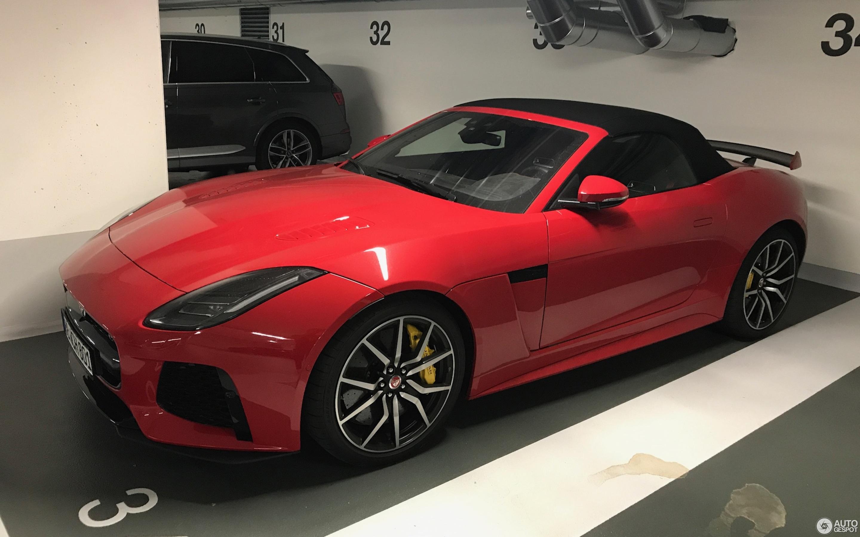 jaguar f type svr convertible 2017 14 october 2018. Black Bedroom Furniture Sets. Home Design Ideas