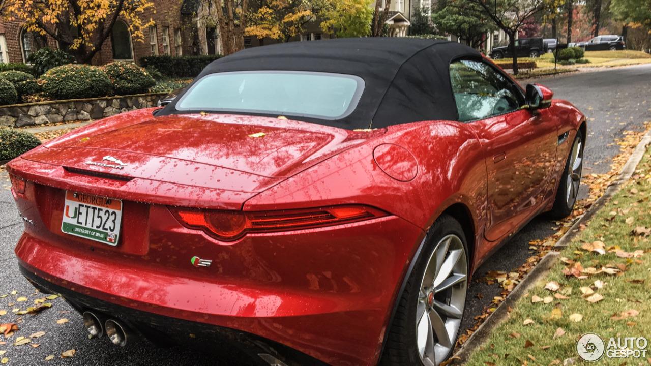 jaguar f type s convertible 24 november 2018 autogespot. Black Bedroom Furniture Sets. Home Design Ideas